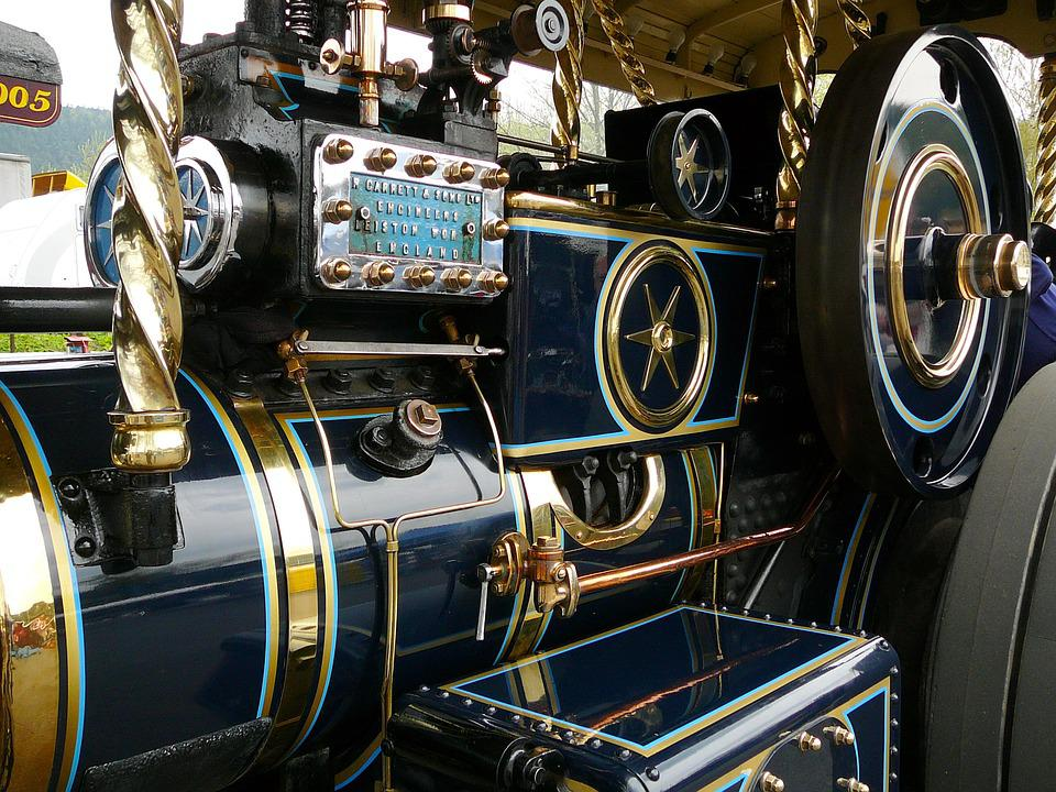 Steam Engine, Old, Historically, Drive, Vehicles