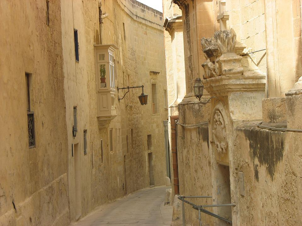 Malta, Alley, House, Street, Mdina, Old