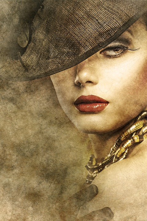 Woman, Portrait, Old Style, Hat, Face, Young, Girl
