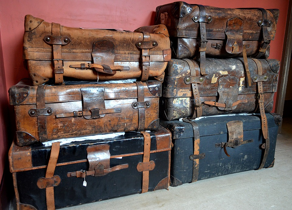 Luggage, Leather Suitcase, Worn, Old Suitcase, Travel