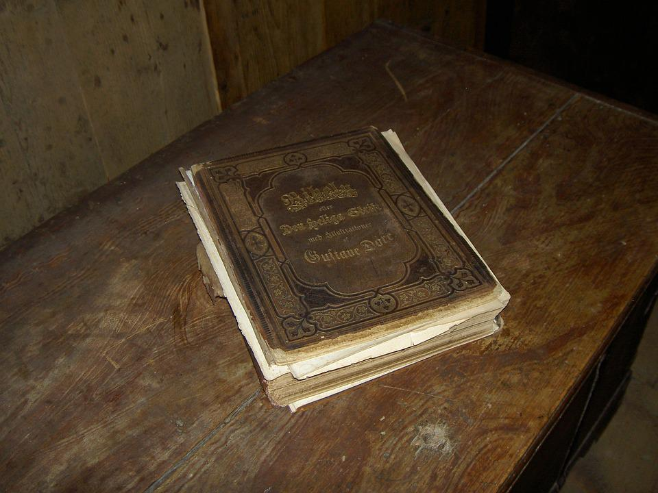 Old, Antique, Book, Bible, Guestbook, Table, Sweden