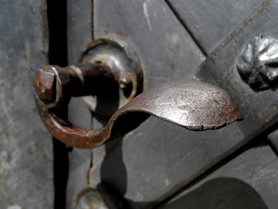 Handle, Door, Old, The Old Door, Metal