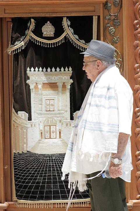 Old, The Tallit, Man, Judaism, Prayer, Hebrew