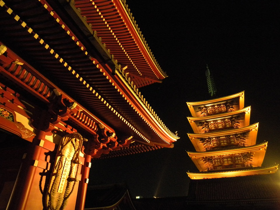 Temple, Night, Old Time, Old Building
