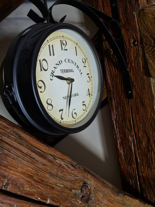 Clock, Wood, Time, Old, Vintage, Retro, Classic