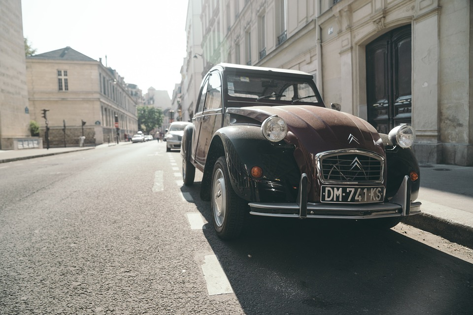 Car, Auto, Street, Old Timer, Architecture, Building
