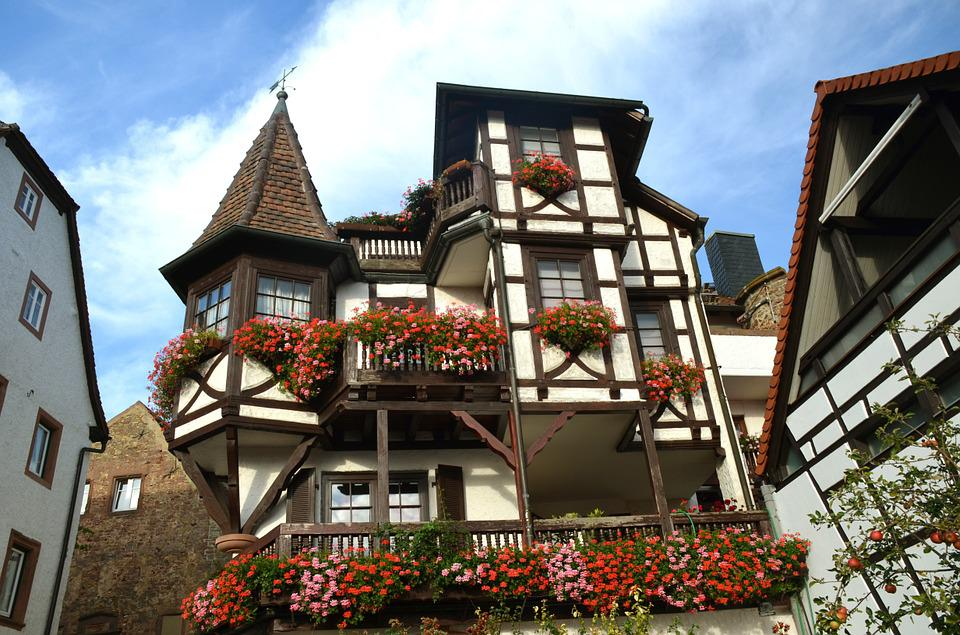 Truss, Home, Facade, Old Town, Architecture, Flower Box