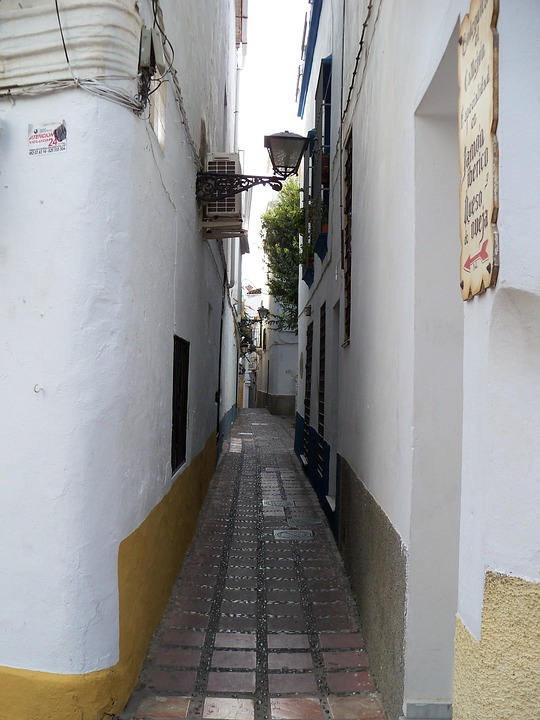 Alley, Narrow, Marbella, Spain, Old Town, Architecture