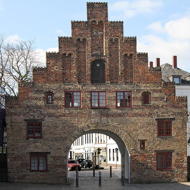 Nordertor, City Gate, Flensburg, Landmark, Old Town