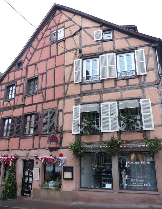 Old Town, Colmar, Truss, Individual, Facade