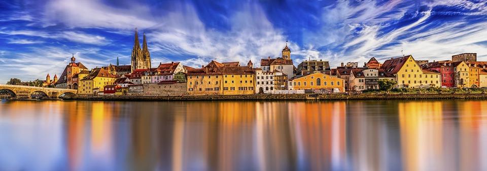 Panorama, Regensburg, Stone Bridge, Old Town, Danube
