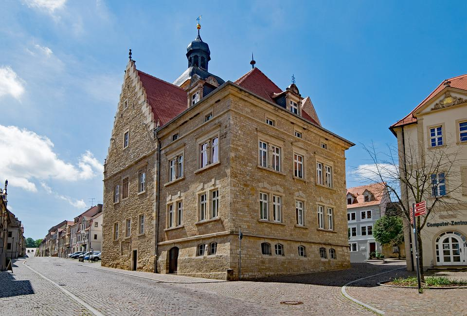 Old Town Hall, Querfurt, Saxony-anhalt, Germany