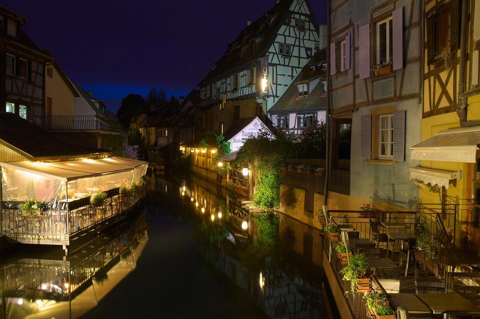 France, Alsace, Colmar, La Petite Venise, Old Town