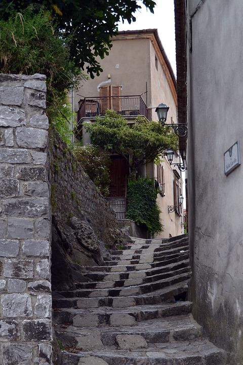 Country, Alley, Italy, Old Town, Paved, Road