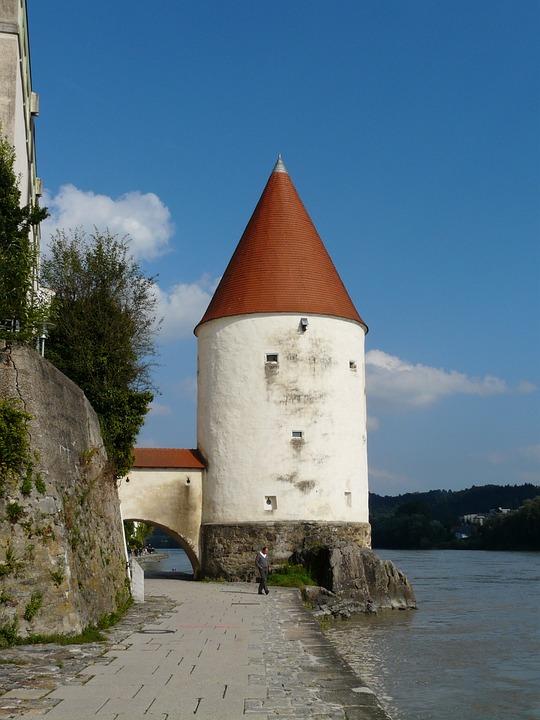Schaiblingsturm, Tower, Landmark, Passau, Old Town