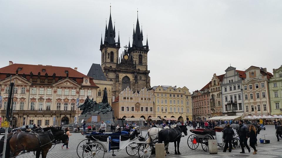 Prague, Old Town Square, Bohemia, Town, Square, Europe