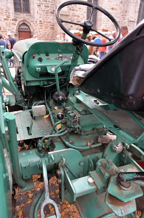 Tractors, Old, Tractor, Historically, Oldtimer