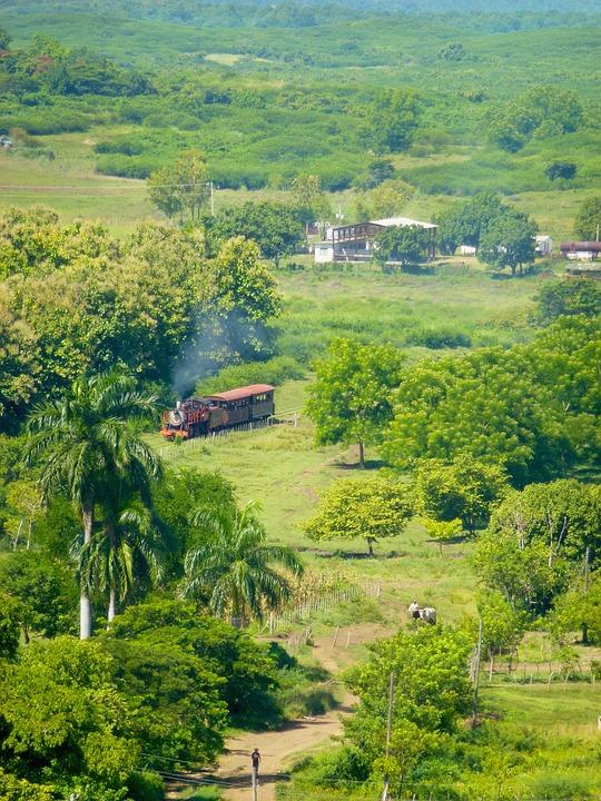 Old Train, Trinidad, Rural, Trip, Caribbean, Landscape