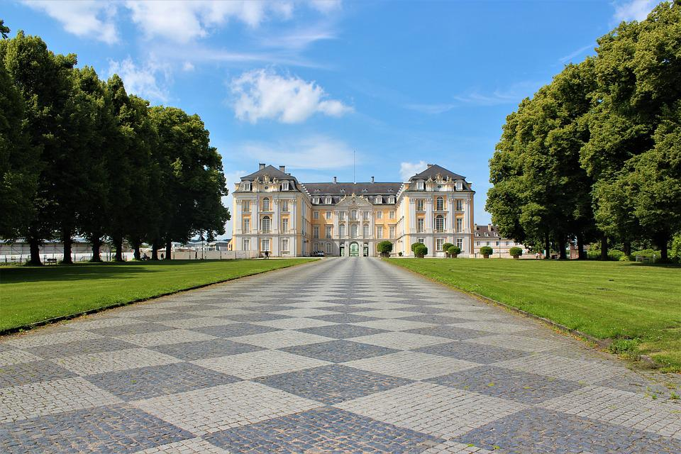 Architecture, Travel, Old, Palace, Castle Brühl, Away