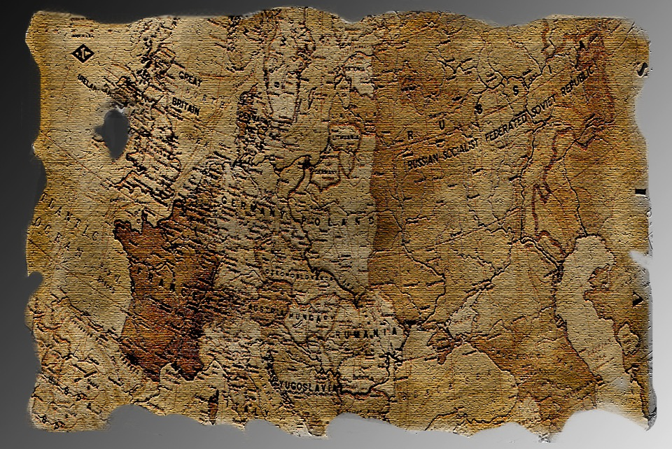 Map, Treasure Map, Antique, Old