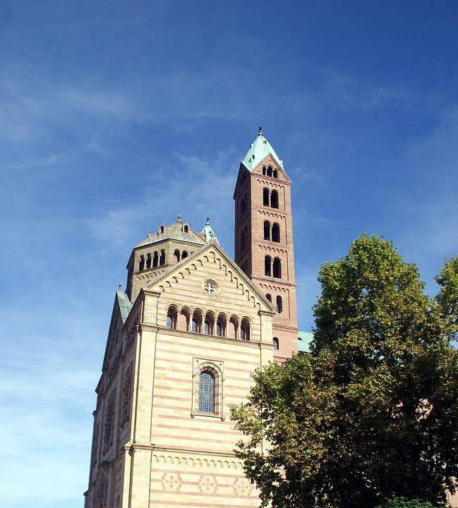 Church, Trees, Tower, Building, Fortress, Spire, Old