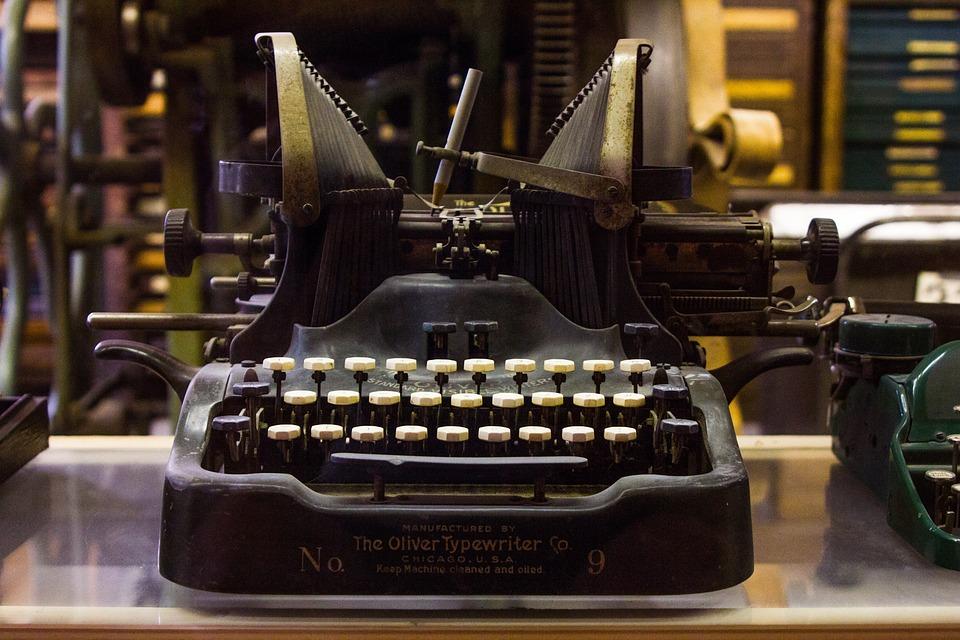 Typewriter, Antique, Old, Oliver Typewriter, Vintage