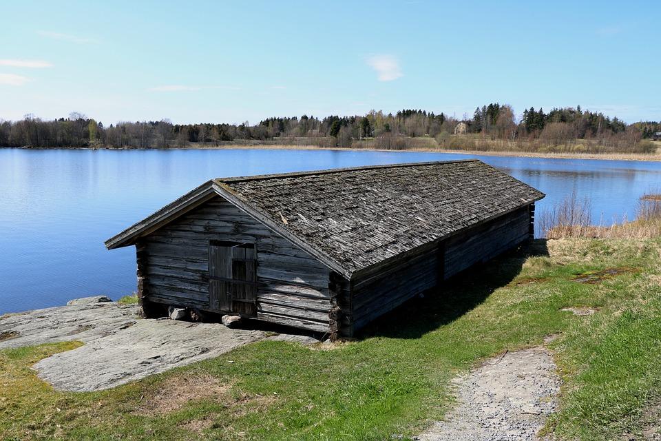 Old Vevevaja, The Church Boat Shed, Lake, Finnish
