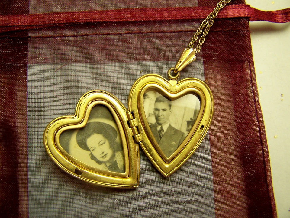 Vintage, Locket, 1930s, Antique, Jewelry, Old, Love