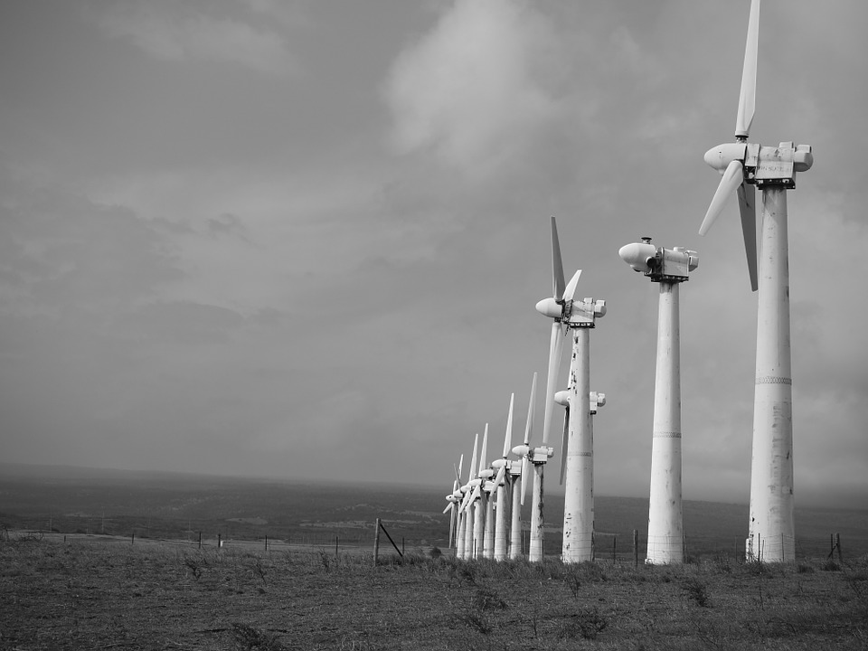 Windmills, Hawaii South Point, Old, Vintage