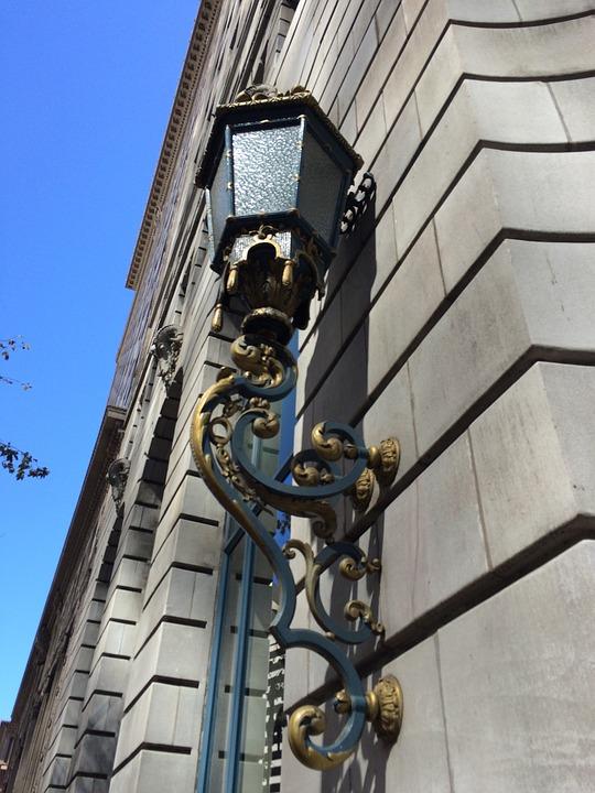 Lamp, Brick, Stone, Wall, Design, Architecture, Old
