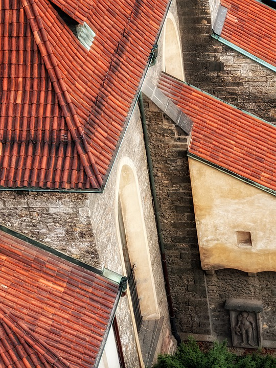 Roof, Old, City, Medieval, Church, Birdsview, Wall