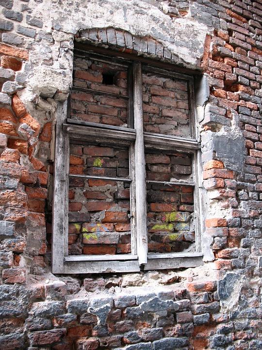 Window, Lake Dusia, Bricked Up, Old Window, Brick