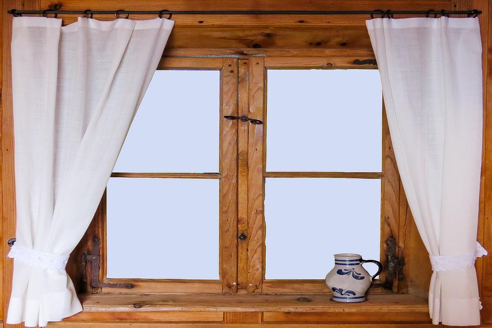 Architecture, Window, Old, Curtain, Window Sill