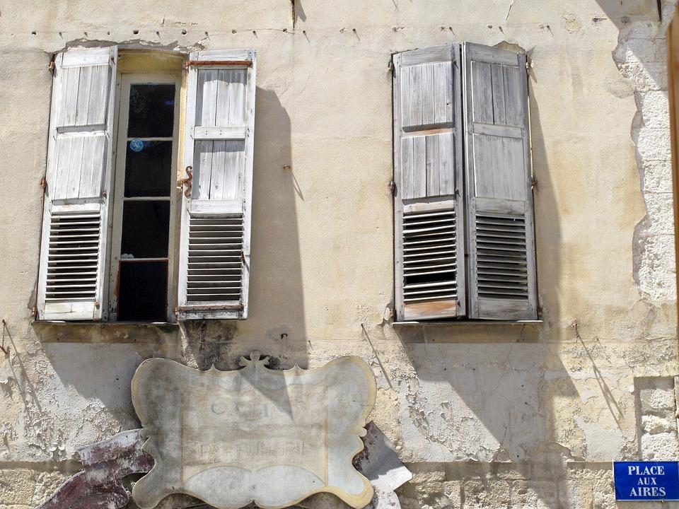 Windows, France, Grasse, Facade, Building, Old