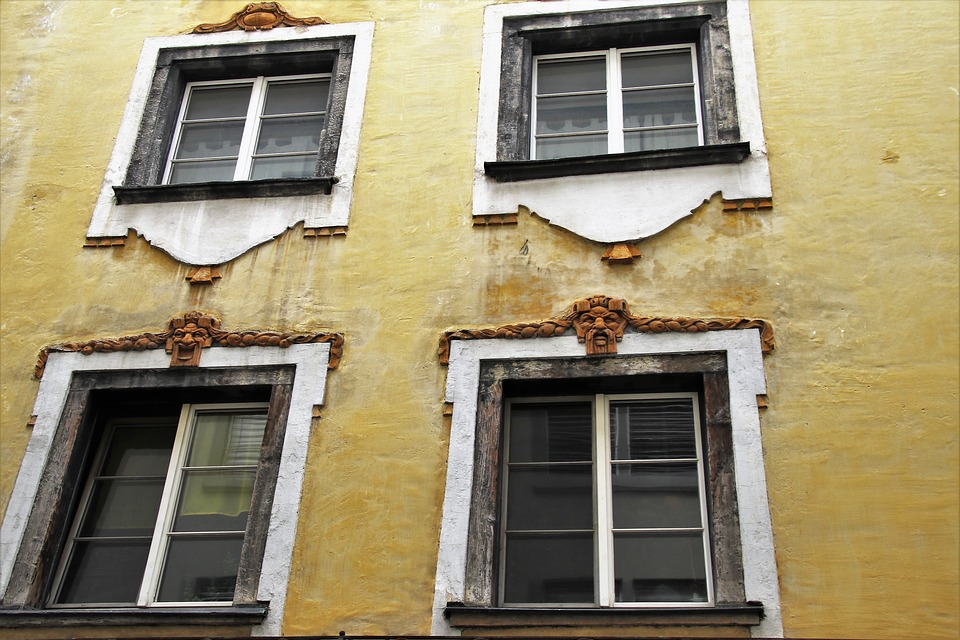 Facade, Old Windows, Monument, The Walls Of The