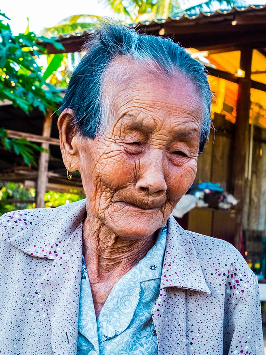 Woman, Old, Thailand, Theyneed Face, Portrait