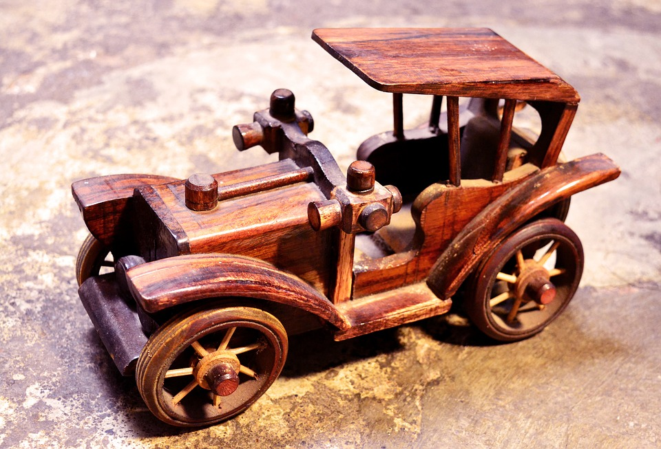 Toy, Car, Wooden, Vehicle, Wood, Classic, Old