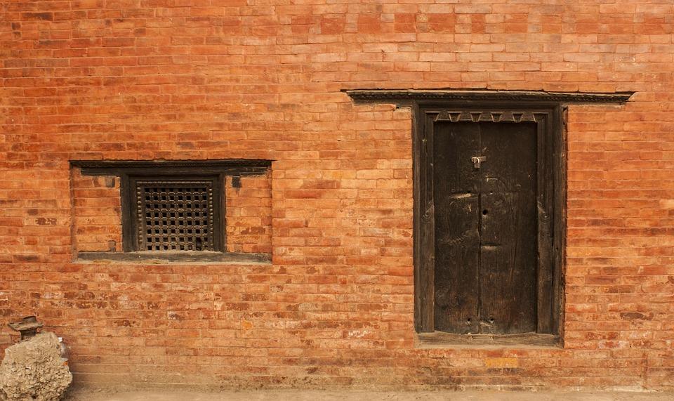 Window, Door, Old, Old Window, Wooden Window