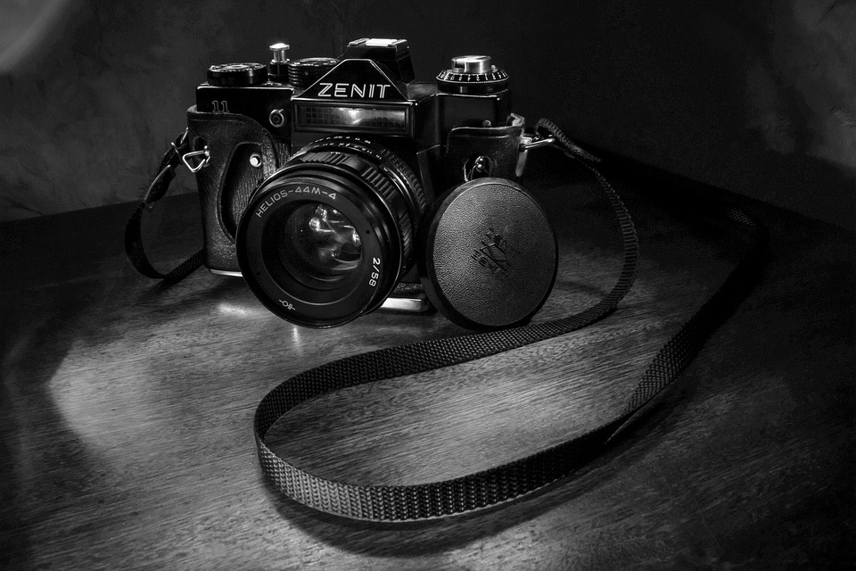Photo, Bw, Zenith, Old, Model, Retro, View, Lens