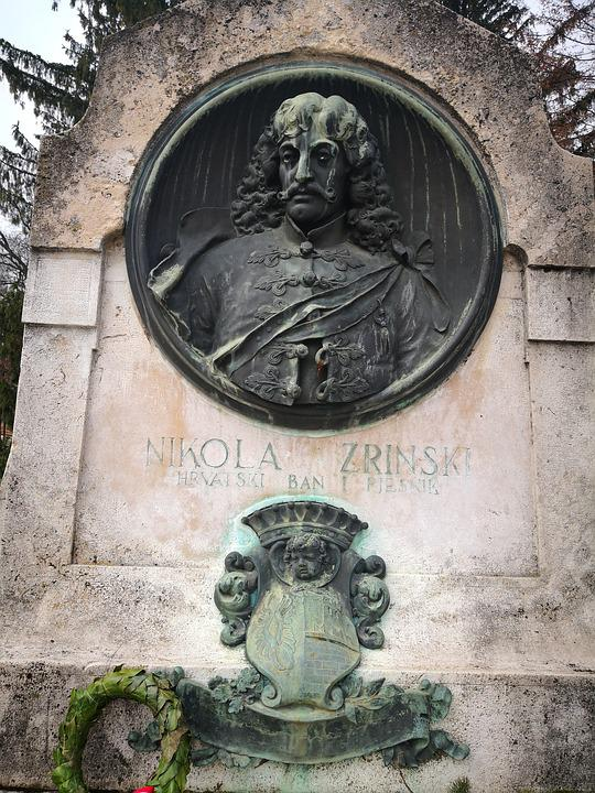 Sculpture, Statue, Art, Old, Architecture, Zrinski