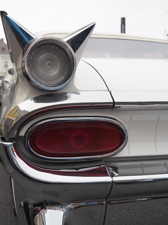 Oldtimer, Us Car, Tailfin, Classic, American, Auto, Usa