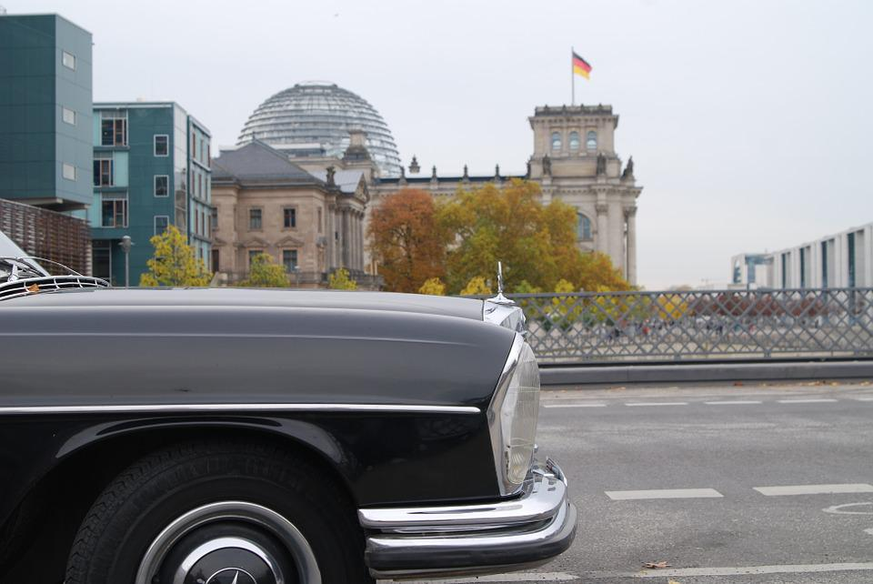 Mercedes, Berlin, Capital, Flag, Oldtimer