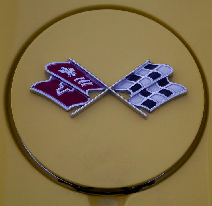 Emblems, Corvette, Oldtimer, Auto, Historically