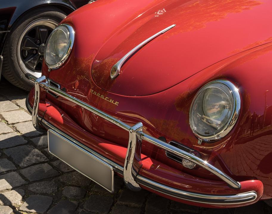Auto, Porsche, Oldtimer, Spotlight, Vehicle