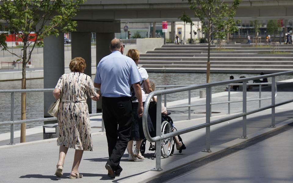 Senior, Lyon, Wheelchair, People, Olg, Market, City