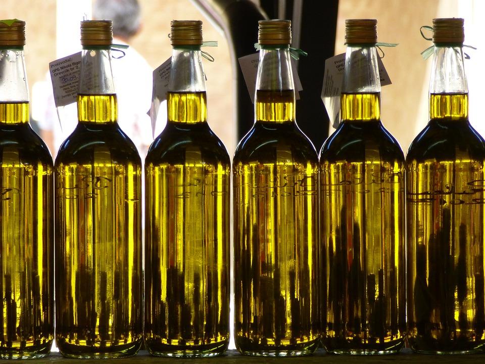 Olive Oil, Market, Bottles