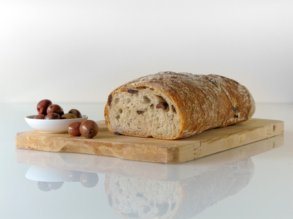 Bread, Food, Olives, Mediterranean, Bakery, Healthy