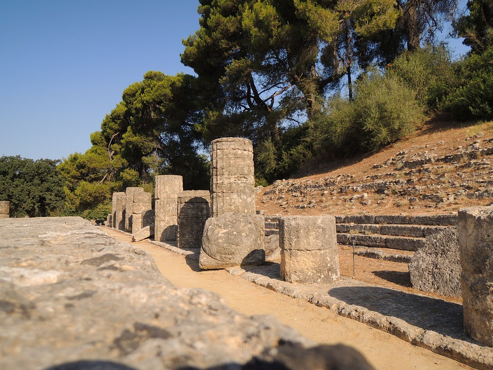 Greece, Olympia, Site, Olympic Games, Tour, Monument