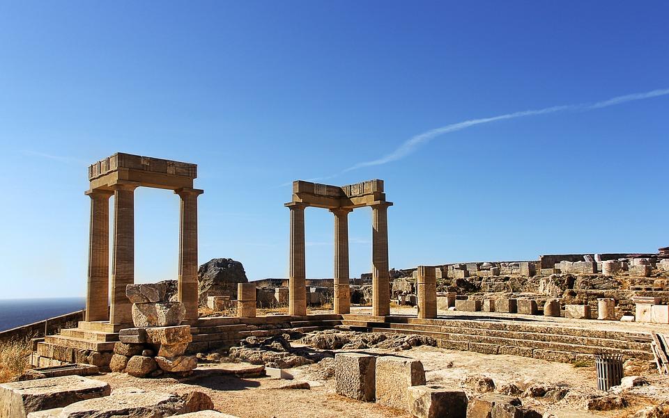 Ruin, Greece, Rhodes, Lindos, Acropolis, Olympia