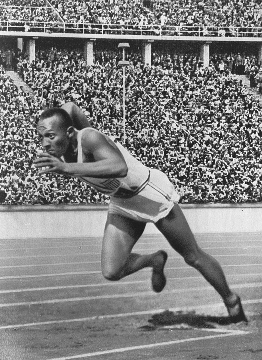 Sprinter, Athletes, Jesse Owens, Olympiad, Black, Negro